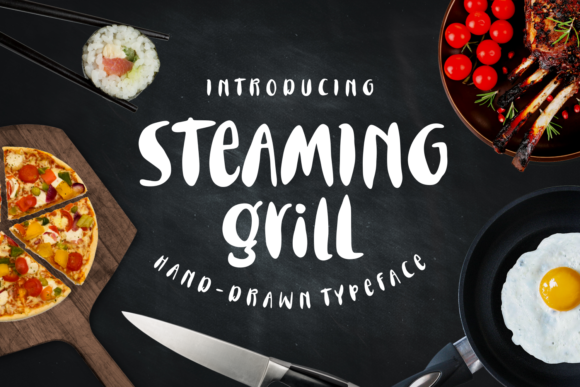 Print on Demand: Steaming Grill Script & Handwritten Font By Keithzo (7NTypes) - Image 1