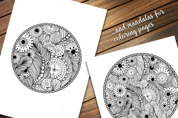 Steampunk Clipart + Coloring Pages! Graphic Coloring Pages & Books Adults By ilonitta.r - Image 6