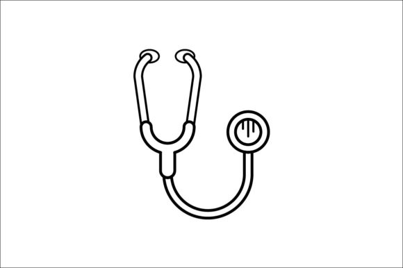 Print on Demand: Stethoscope Graphic Icons By khld939 - Image 1