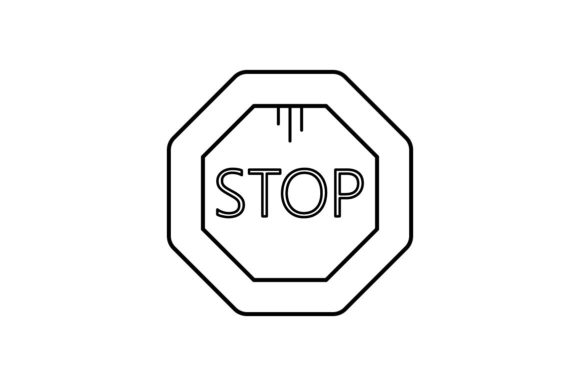 Print on Demand: Stop Graphic Icons By khld939