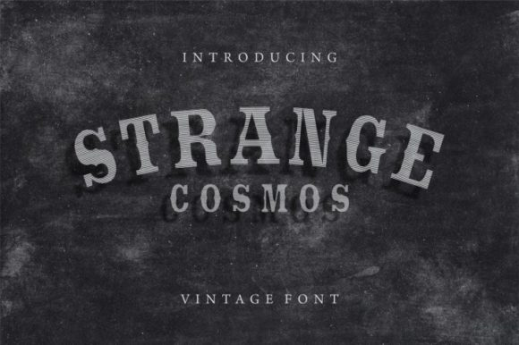 Print on Demand: Strange Cosmos Display Font By bywahtung