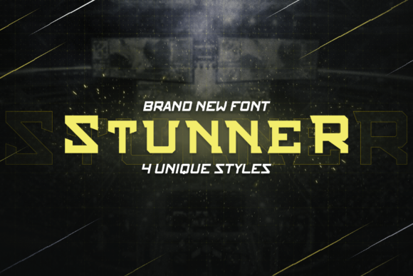 Print on Demand: Stunner Family Slab Serif Font By ovoz.graphics