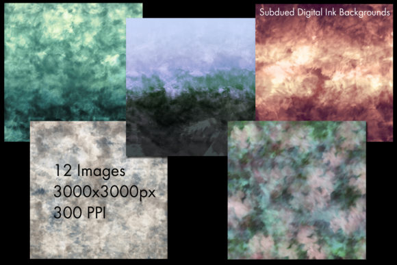 Print on Demand: Subdued Digital Ink Backgrounds Graphic Backgrounds By SapphireXDesigns - Image 2