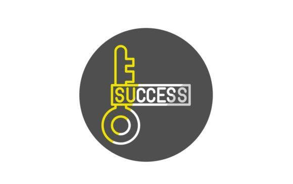 Print on Demand: Success Key Graphic Icons By Iconika
