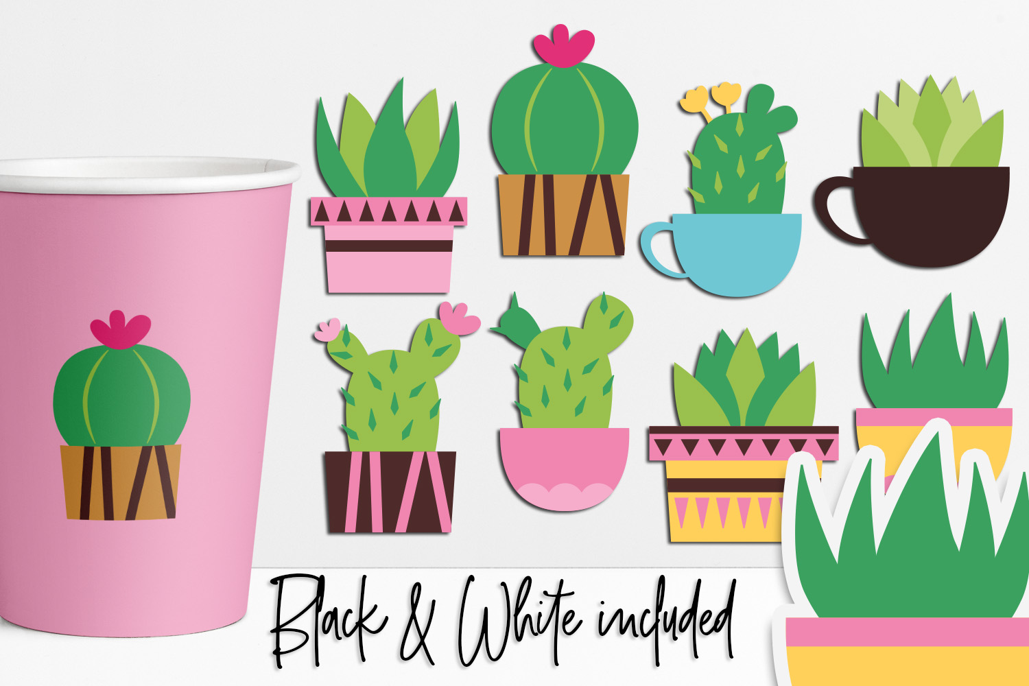Download Free Succulent Cactus Graphic By Darrakadisha Creative Fabrica for Cricut Explore, Silhouette and other cutting machines.