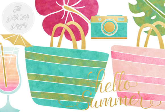 Print on Demand: Summer & Beach Clipart Set Graphic Illustrations By daphnepopuliers - Image 2