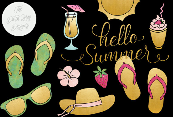 Print on Demand: Summer & Beach Clipart Set Graphic Illustrations By daphnepopuliers - Image 3