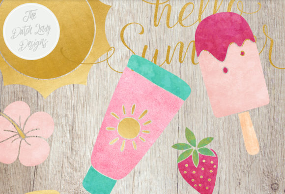 Print on Demand: Summer & Beach Clipart Set Graphic Illustrations By daphnepopuliers - Image 6