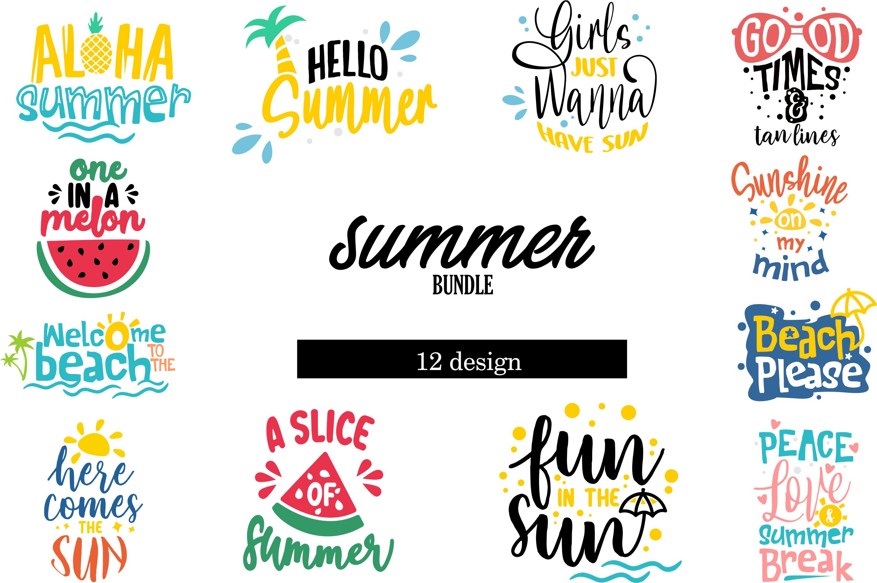 Download Free Summer Bundle Graphic By Graphicrun123 Creative Fabrica for Cricut Explore, Silhouette and other cutting machines.