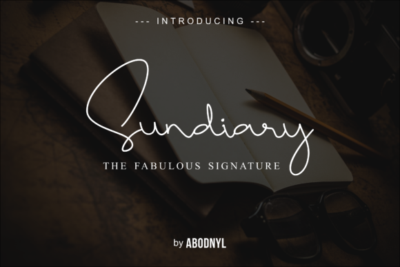 Print on Demand: Sundiary Script & Handwritten Font By Abodaniel - Image 1