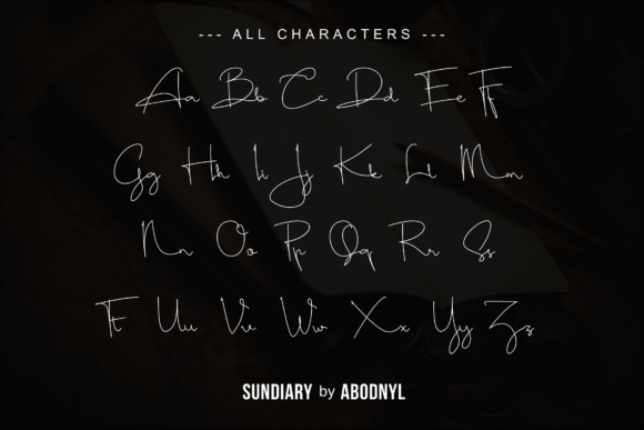 Print on Demand: Sundiary Script & Handwritten Font By Abodaniel - Image 9