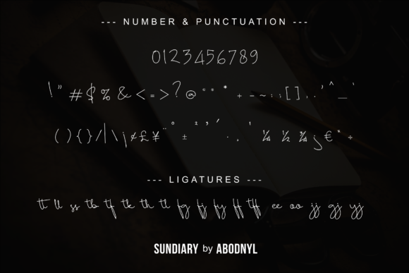 Print on Demand: Sundiary Script & Handwritten Font By Abodaniel - Image 10