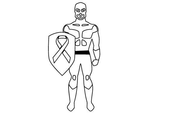 Superhero Man with a Grey Ribbon on His Shield Craft Design By Creative Fabrica Crafts Image 2