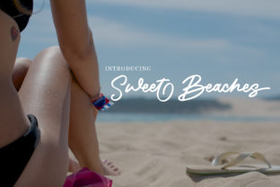 Sweet Beaches Font By stefiejustprince