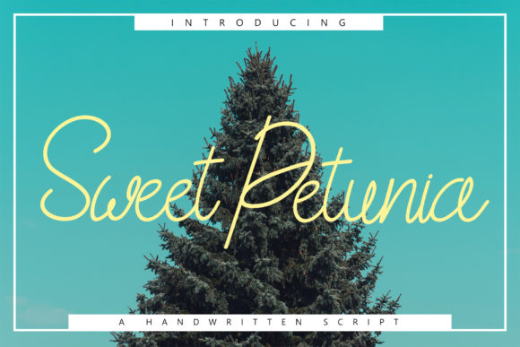 Print on Demand: Sweet Petunia Script & Handwritten Font By Rustype