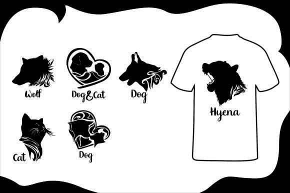 Download Free T Shirt Dog Cat Silhouette Bundle Graphic By Arief Sapta Adjie for Cricut Explore, Silhouette and other cutting machines.