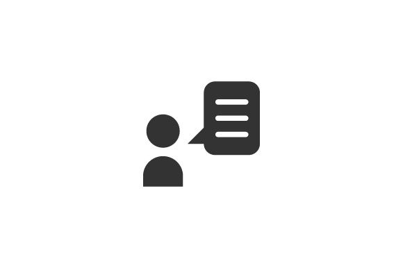 Download Free Talk Icon Graphic By Rudezstudio Creative Fabrica for Cricut Explore, Silhouette and other cutting machines.