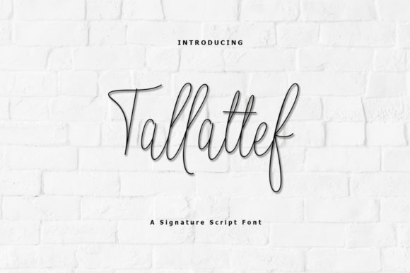 Print on Demand: Tallattef Script & Handwritten Font By rastype1010