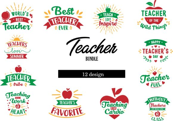 Download Free Teacher Bundle Graphic By Graphicrun123 Creative Fabrica for Cricut Explore, Silhouette and other cutting machines.