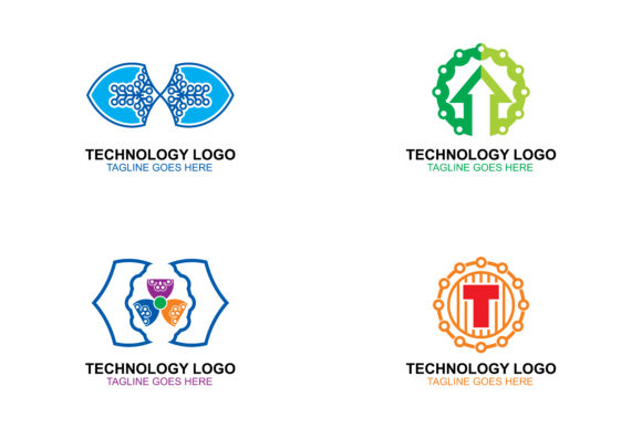 Download Free Tech Logos Set Graphic By Thehero Creative Fabrica for Cricut Explore, Silhouette and other cutting machines.