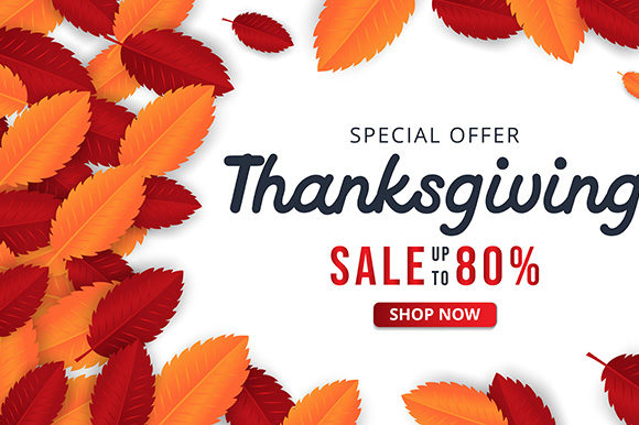Thanksgiving Background with Leaves Graphic Graphic Templates By indostudio