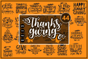 Print on Demand: Thanksgiving Fall Bundle Graphic Crafts By Designartstore