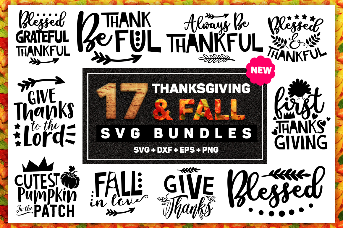 Download Free Thanksgiving And Fall Bundle Graphic By Subornastudio Creative for Cricut Explore, Silhouette and other cutting machines.