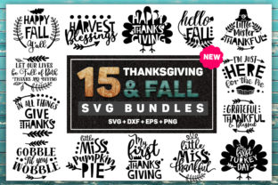Thanksgiving and Fall SVG Bundle Graphic By Artstudio