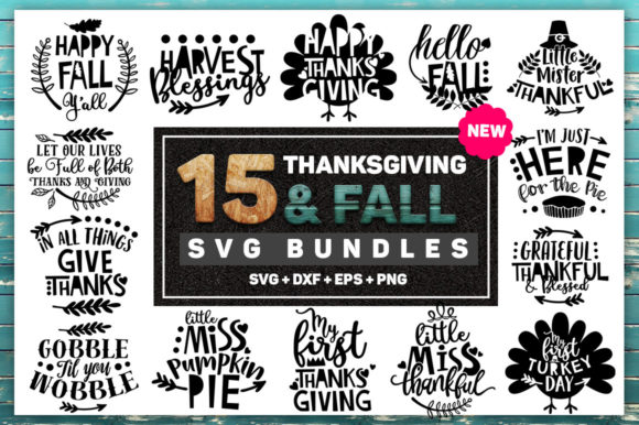 Print on Demand: Thanksgiving and Fall Bundle Graphic Crafts By SubornaStudio