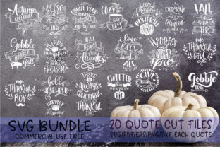 Thanksgiving Quotes Bundle Graphic By SVG Story