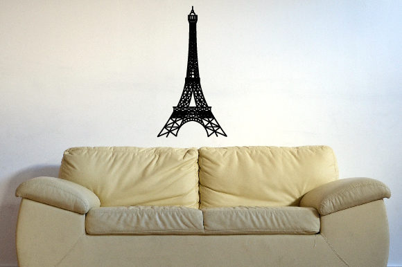 The Eiffel Tower Silhouette 24x39 Inch Craft Design By Creative Fabrica Crafts Image 1