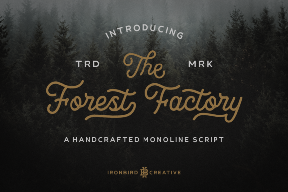 Print on Demand: The Forest Factory Script & Handwritten Font By ironbirdcreative