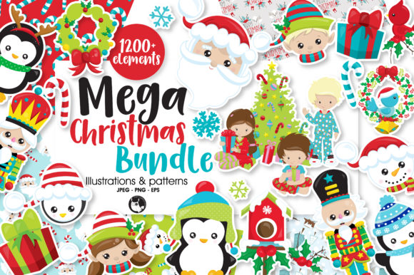 Print on Demand: The Mega Christmas Bundle  Graphic Crafts By Prettygrafik