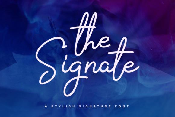 Print on Demand: The Signate Script & Handwritten Font By alphArt