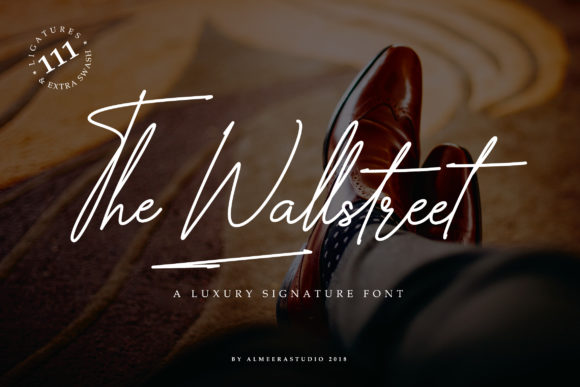 Print on Demand: The Wallstreet Script & Handwritten Font By Almeera Studio