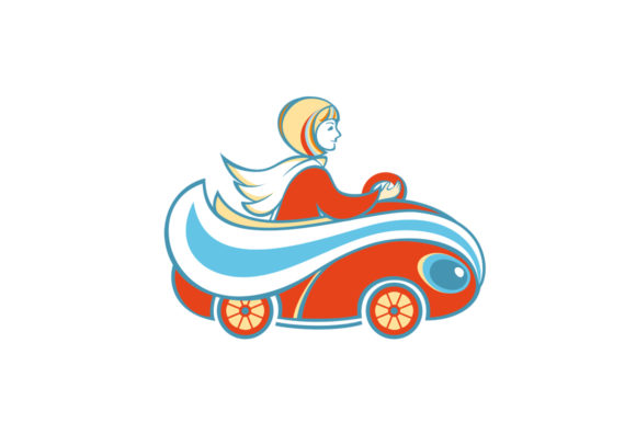 The Girl In The Red Car Cartoon Image Graphic By Zoyali