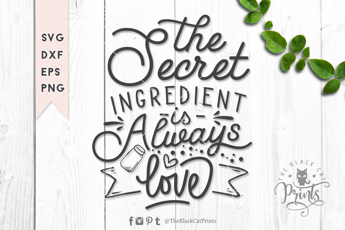 Download Free The Secret Ingredient Svg Graphic By Theblackcatprints for Cricut Explore, Silhouette and other cutting machines.