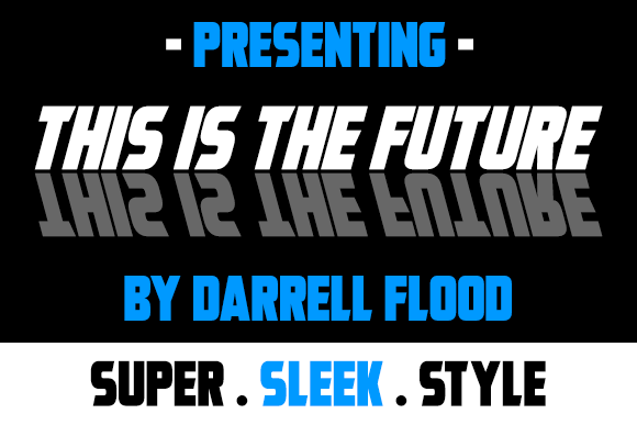 Print on Demand: This is the Future Sans Serif Font By Dadiomouse