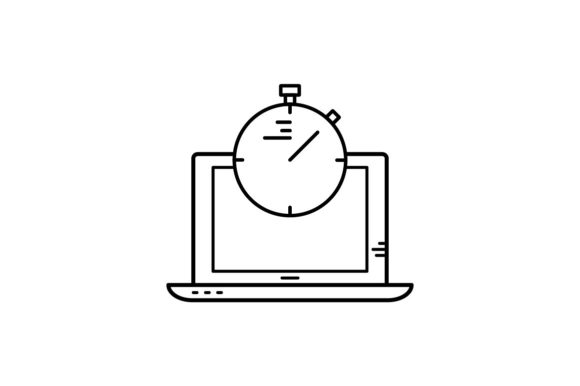 Print on Demand: Timer Graphic Icons By khld939