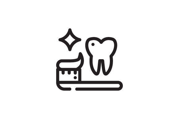 Download Free Tooth Brush Icon Graphic By Rudezstudio Creative Fabrica for Cricut Explore, Silhouette and other cutting machines.