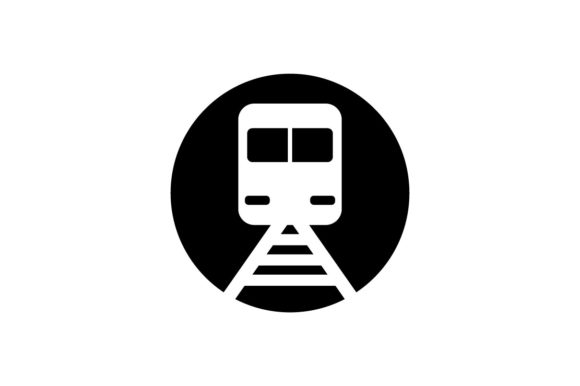 Download Free Train Monochrome Icon Vector Eps 10 Graphic By Hoeda80 for Cricut Explore, Silhouette and other cutting machines.