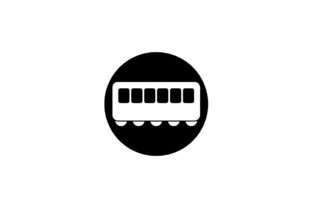 Download Free Train Monochrome Icon Vector Eps Graphic By Hoeda80 Creative for Cricut Explore, Silhouette and other cutting machines.