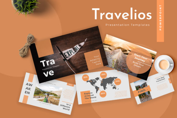Travelios Travel Agency Powerpoint Presentation Graphic By TMint
