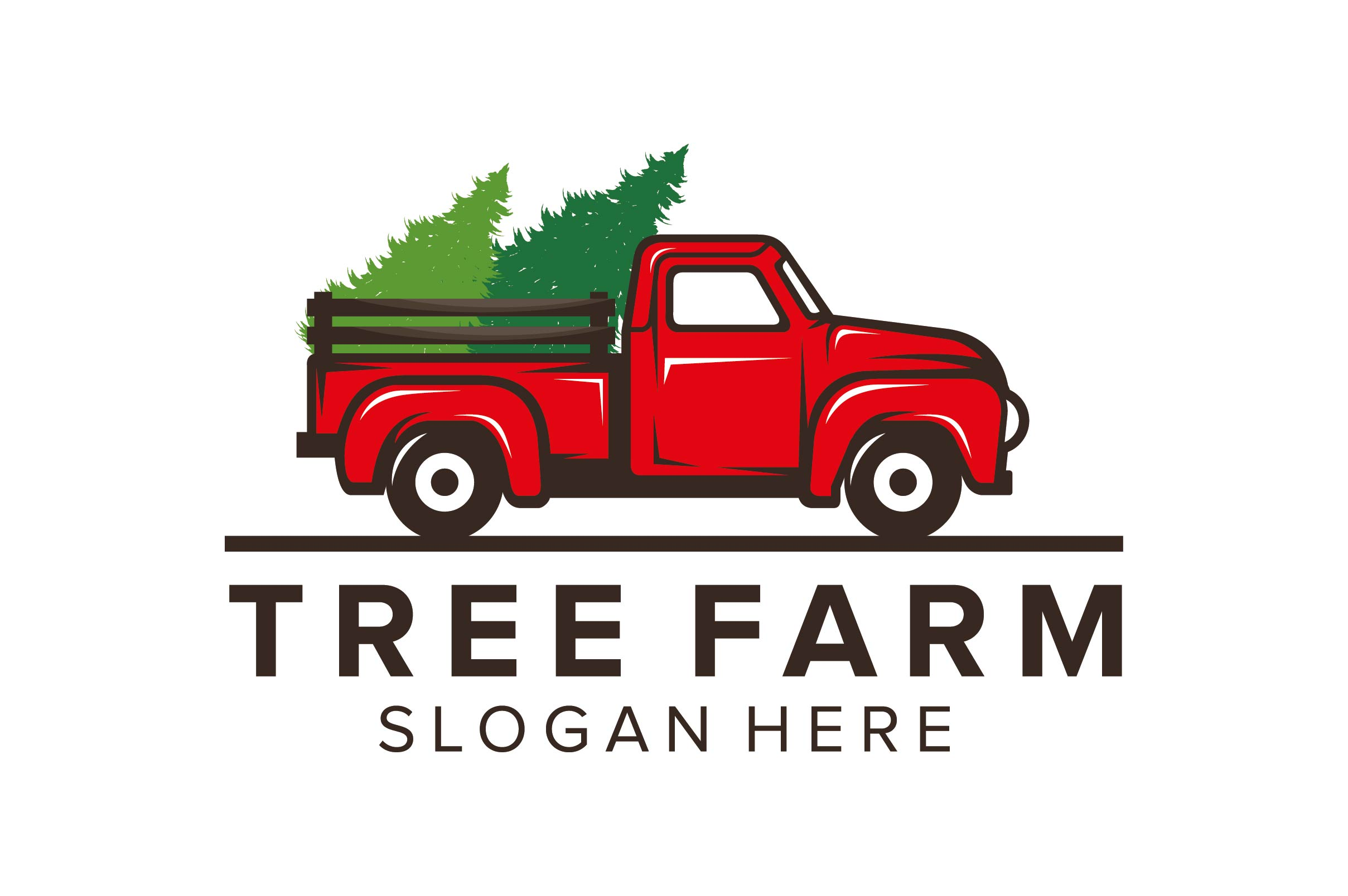 Download Free Tree Farm Logo Design Graphic By Nuranitalutfiana92 Creative for Cricut Explore, Silhouette and other cutting machines.