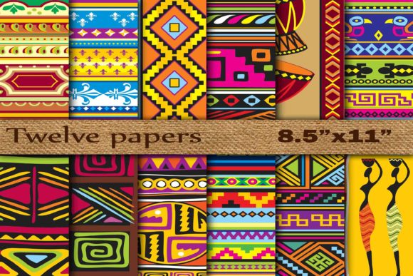 Tribal Digital Papers Gráfico Fondos Por twelvepapers