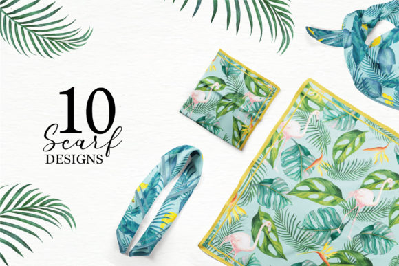 Download Free Tropical Collection Graphic By Telllu Creative Fabrica for Cricut Explore, Silhouette and other cutting machines.
