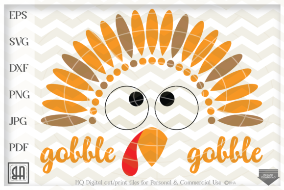 Download Free Turkey Face Graphic By Blueberry Hill Art Creative Fabrica for Cricut Explore, Silhouette and other cutting machines.
