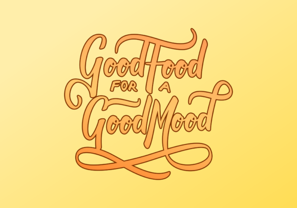 Print on Demand: Typography Good Food for a Good Mood Graphic Crafts By Sibelumpagi Studio