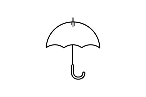 Print on Demand: Umbrella Graphic Icons By khld939