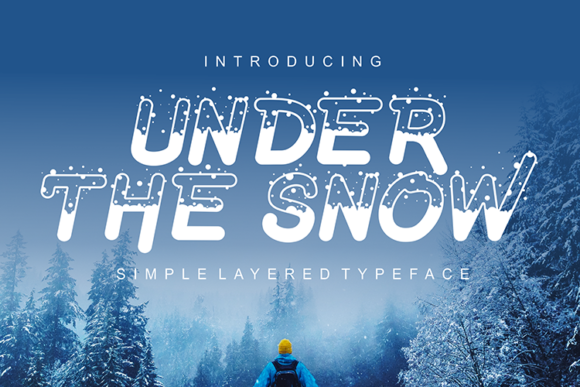 Print on Demand: Under the Snow Display Font By figuree studio